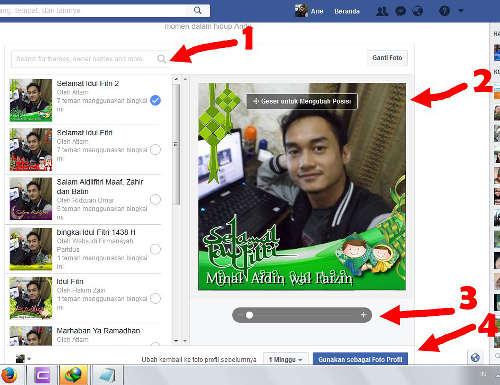 cara membuat foto profil facebook menggunakan frame bingkai terbaru
