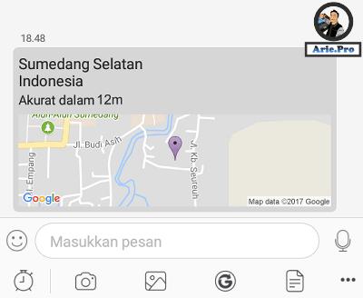 lokasi gps di bbm android terkirim
