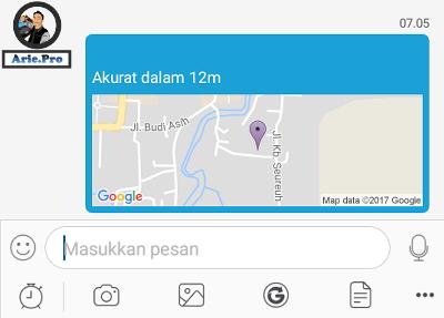 cara membuka kiriman lokasi di bbm android