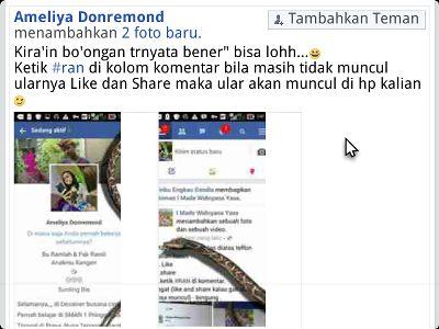 cara agar facebook ada ularnya