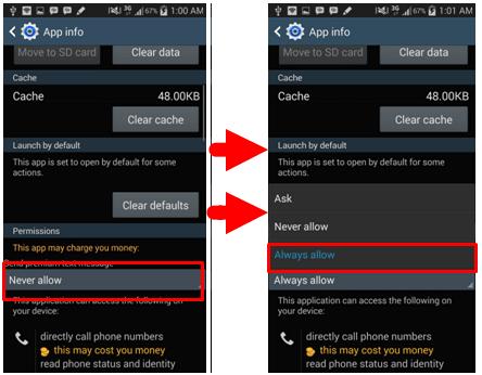 cara agar bisa mengirim sms di android kitkat dan lollipop