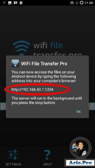 cara menggunakan aplikasi wifi file transfer pro 2