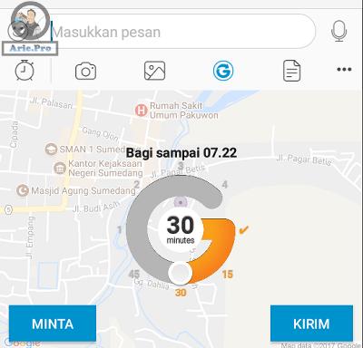 setting waktu glympse android bbm
