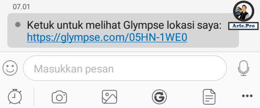 cara membuka lokasi glympse di bbm android versi terbaru