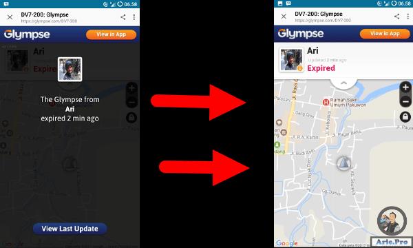 membuka android bbm glympse expired