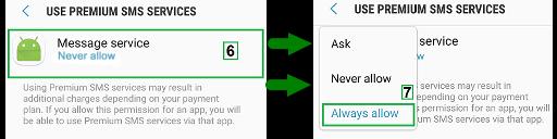 setting sms premium android terbaru marshmallow dan nougat