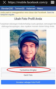 cara membuat bingkai facebook dirgahayu hut ri
