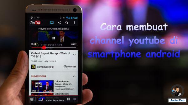 5 langkah cara membuat channel youtube sendiri di HP android mudah & cepat