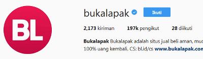 instagram resmi bukalapak