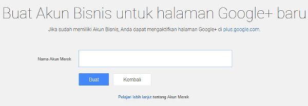 membuat halaman bisnis merek google plus