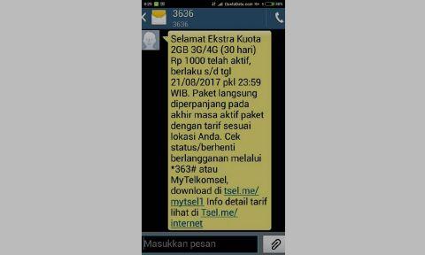 cara beli paket internet murah telkomsel 2Gb rp1.000 rupiah saja