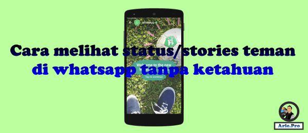 cara melihat status stories teman di whatsapp tanpa ketahuan pemiliknya