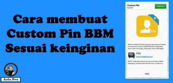 cara membuat custom pin BBM sesuai keinginan kita gratis