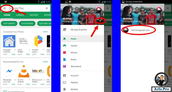 cara mengganti akun gmail google di android