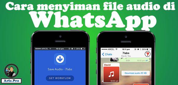 cara menyimpan file audio mp3 wav ogg dll di whatsapp