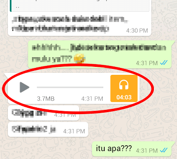 cara menyimpan file mp3 ke memori di whatsapp android