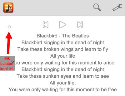 cara menambahkan lirik lagi di pemutar musik xiaomi
