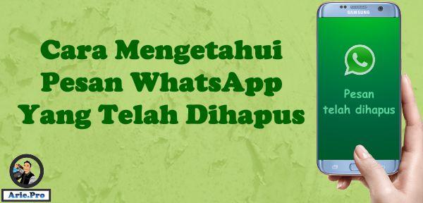 begini cara mengetahui isi pesan whatsapp yang telah dihapus