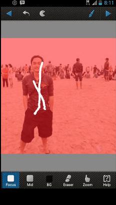 cara menentukan focus foto android