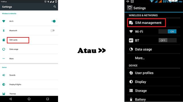 setting kartu untuk internet di android dengan 2 kartu