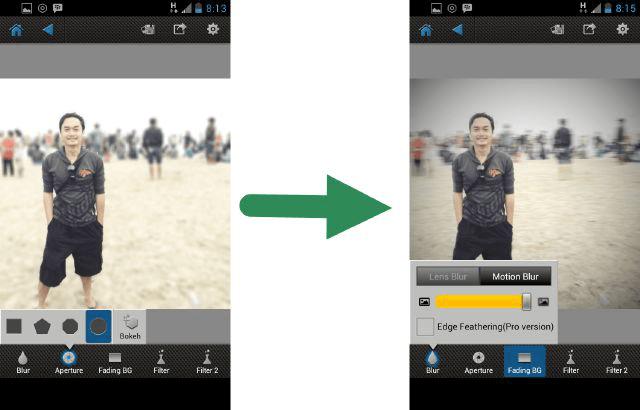 tutorial edit foto bokeh android
