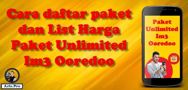 cara daftar paket unlimited youtube & chat indosat im3 ooredoo