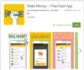 cara menghasilkan uang dari aplikasi android make money app