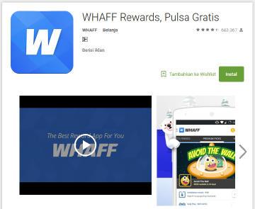 cara menghasilkan uang dari aplikasi android whaff