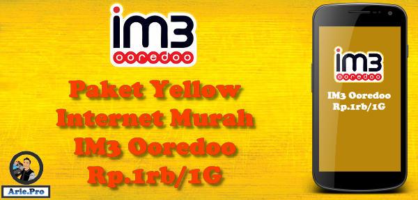 paket yellow im3 indosat ooredoo internet murah Rp.1rb 1Gb