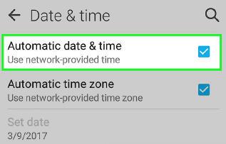 cara setting waktu dan tanggal android