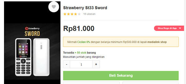 spesifikasi dan review strawberry sword