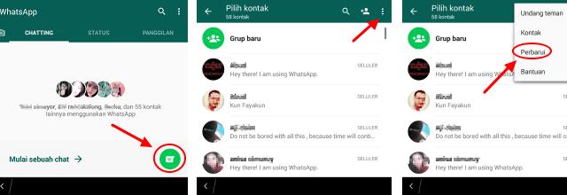 cara refresh whatsapp kontak yang tidak muncul