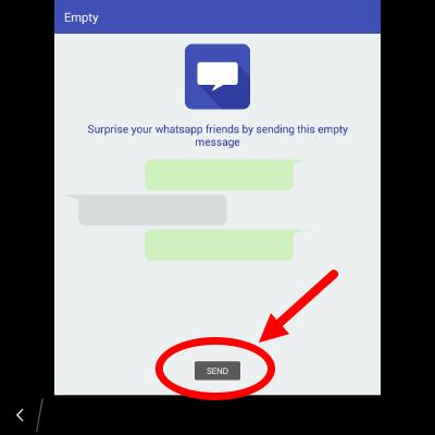 cara kirim pesan kosong ke teman