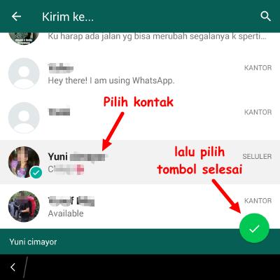 cara kirim pesan kosong ke teman whatsapp