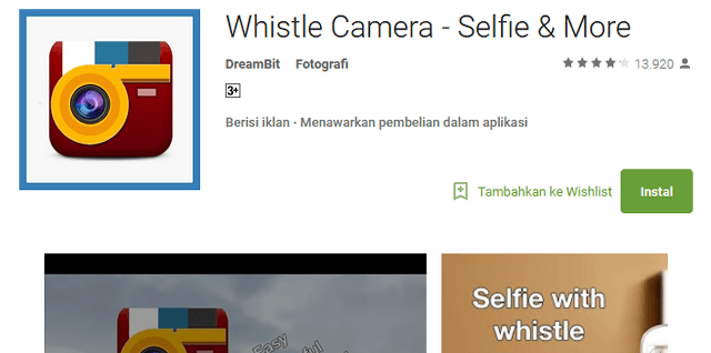 Cara memotret hanya dengan siulan di smartphone android