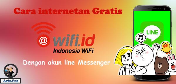 cara internetan WIFI ID gratis dengan akun aplikasi line