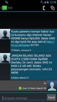 cara daftar internet tri 2.5gb rp2000