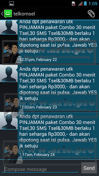 Cara mendaftarkan paket COMBO pinjaman dari Telkomsel