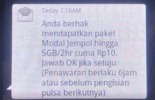 cara dapat sms paket jempol telkomsel