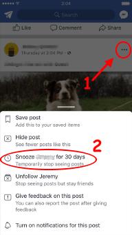 cara snooze di facebook 1