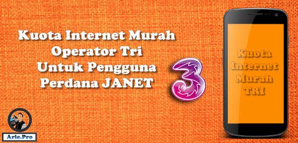 kuota internet murah tri 5GB cuma 5ribu dari perdana JANET