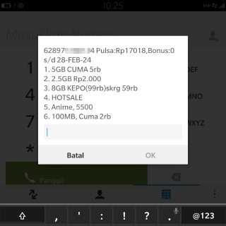 cara daftar paket internet tri 5GB Rp5000