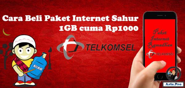 paket internet ramadhan telkomsel 1Gb Rp1000 5GB Rp5000