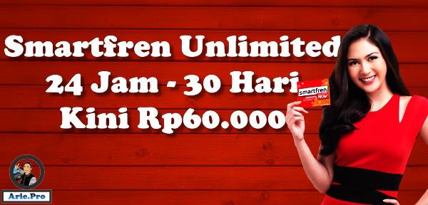 paket internet smartfren unlimited 24 jam 30 hari Rp60ribu