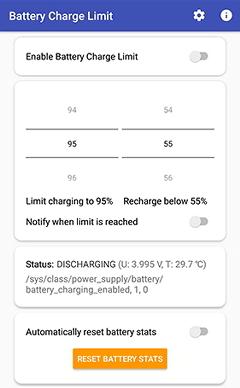 Cara menggunakan aplikasi Battery Charge Limit