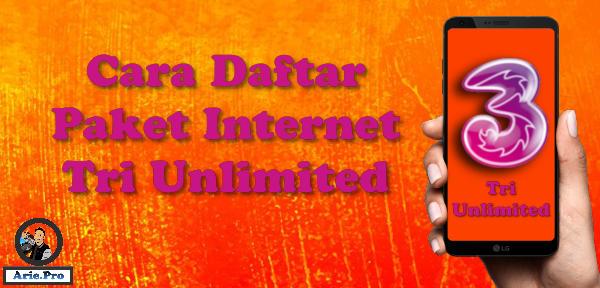 cara membeli paket internet tri unlimited cuma Rp3000