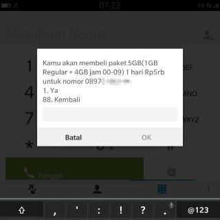 cara meminta kuota internet ke nomor lain tri