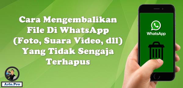 cara mengembalikan file foto video yang terhapus di WhatsApp