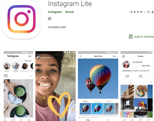 Download Instagram versi lite