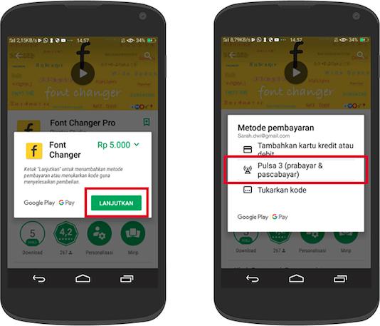 cara beli aplikasi di google play store dengan pulsa